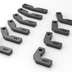 WWQ.jpg Download STL file Goniometer - Protractor • 3D print template, Alessio_Sormani_Design