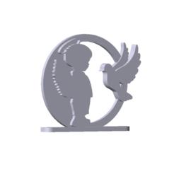 Descargar modelo 3D Decoración, Recuerdo religioso (boy angel), rgpereira85