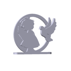 religious souvenir girl.png Download STL file DECORATION, RELIGIOUS SOUVENIR (GIRL ANGEL) • Model to 3D print, rgpereira85