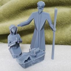 final.jpg Download STL file  Small Christmas nativity scene (geometric) • 3D printer model, rgpereira85