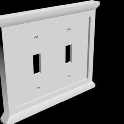 Download STL file Single, Double, & Triple Light Switch Covers, gwells1980