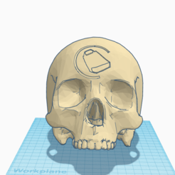 Front.PNG Download STL file Halo Cowbell Skull  • Object to 3D print, SplinterPrintz