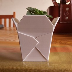 bis.jpg Download STL file Chinese takeout box, succulent PLANTER • 3D print design, nachitox