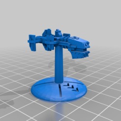 Marauder_Chopper_Small_Ship_1_32mm_Base.png Descargar archivo STL gratis Flotas de guerra: FTL Marauder Chopper Small Ships • Plan imprimible en 3D, cardozamg