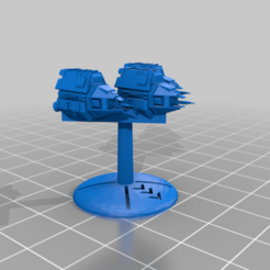 Alliance_Bomber_Squadron_25mmBase_GothicScale.png Download free STL file Warfleets: FTL Alliance Bomber/Falcon Squadron (Gothic Scale) • 3D print object, cardozamg