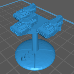 Suicide_Squadroon_Front.PNG Download STL file Pre-supported Marauder Suicide Squadron for Warfleets: FTL  • 3D print template, cardozamg