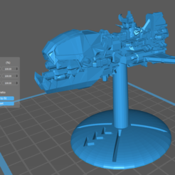 Crusher_Medium_Ship_1_Side_Scale.PNG Descargar archivo STL gratis Flotas de guerra: Naves pesadas FTL Marauder Killer • Plan imprimible en 3D, cardozamg
