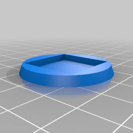 20to32_taper.png Download free STL file 20 mm square to 32 mm circle base adaptor • Object to 3D print, The-Printing-Goes-Ever-On