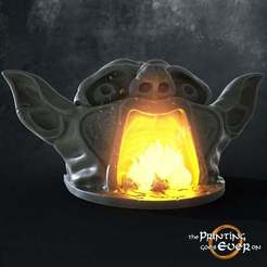 yawning-goblin-fireplace.jpg Download free STL file Yawning Goblin - Fireplace • Model to 3D print, The-Printing-Goes-Ever-On