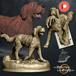 dogs.jpg Download STL file Dogs - Presupported • Object to 3D print, The-Printing-Goes-Ever-On