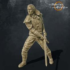 henry-cavill-witcher-free-miniature.jpg Download free STL file The Witcher | Henry Cavill | Netflix | Dynamic pose | 32 and 74 mm • 3D printer template, The-Printing-Goes-Ever-On