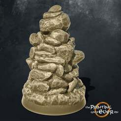 Cairn_Base.jpg Download free STL file Stone Cairn Tabletop Marker • 3D printing design, The-Printing-Goes-Ever-On