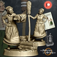 housekeepers.jpg Download STL file House Keeper - Presupported - 2 variants • 3D printing object, The-Printing-Goes-Ever-On