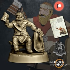 dwarf.jpg Download STL file Traveling Dwarf - Presupported • Template to 3D print, The-Printing-Goes-Ever-On