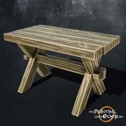 table.jpg Download free STL file Wooden Table • 3D print model, The-Printing-Goes-Ever-On