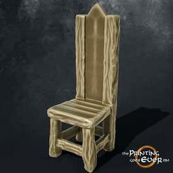 chair.jpg Download free STL file Medieval Chair • 3D printer design, The-Printing-Goes-Ever-On