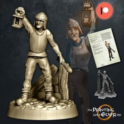 town-guard.jpg Download STL file Town Guard - Presupported • 3D printing object, The-Printing-Goes-Ever-On