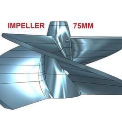 75MM.jpg Télécharger fichier STL ROUE À 3 PALES POUR UNITÉ DE POMPE À JET - 75 MM • Plan à imprimer en 3D, jet-x