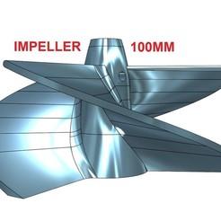 100MM.jpg Télécharger fichier STL 3 LAMES POUR UNITE DE POMPES JET - 100 mm • Plan pour impression 3D, jet-x