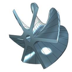 44.jpg Télécharger fichier STL ROUE À 6 PALES POUR UNITÉ DE PROPULSION 80MM • Modèle pour imprimante 3D, jet-x