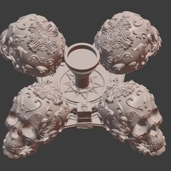00.jpg Télécharger fichier STL gratuit Crâne gothique Porte-bougie d'Halloween • Objet à imprimer en 3D, Dovahkiin3DPrint