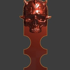 v.jpg Download free STL file Darth Maul Bookmark • Model to 3D print, Dovahkiin3DPrint