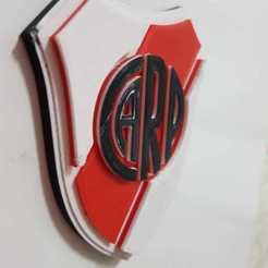 WhatsApp Image 2020-09-29 at 20.26.52.jpeg Télécharger fichier STL Bouclier du River Plate Athletic Club • Modèle pour impression 3D, matiasreynoso
