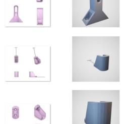Soporte.png Download STL file SUPPORT FOR WARDROBE BAR 1X3 CM • 3D printing design, matiasreynoso