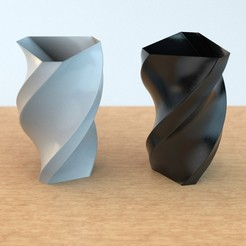 Vase_02-1.jpg Download STL file POLYGON VASE 03 • 3D printable object, anncao