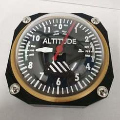 Télécharger fichier STL gratuit Horloge altimétrique • Objet pour imprimante 3D, Samdsx
