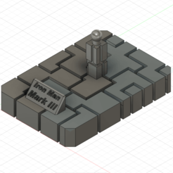 Télécharger fichier STL gratuit Support Casque Iron Man • Modèle à imprimer en 3D, DarkJericho