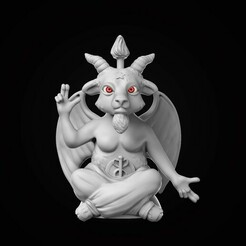 breasted.jpg Download OBJ file Baphomet Stylized • Model to 3D print, conti3d
