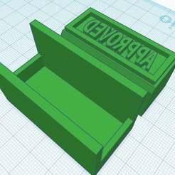 """Download free 3D printer designs Stamp -> """"APPROVED"""", Maker4D"""