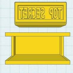 """Download free STL Stamp -> """"TOP SECRET"""", Maker4D"""