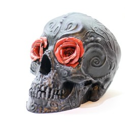 IMG_9526.jpg Download STL file Sugar Skull Roses for Halloween Decoration Goth Decoration Mexican Skull Catrina • Object to 3D print, Sim1Art