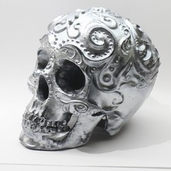 IMG_9411.jpg Download STL file Candy Skull Lamp for Tealight • 3D print design, lodre