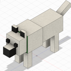 Minecraft_Wolf.PNG Download free STL file Minecraft Wolf Happy • 3D printing design, Xadiu