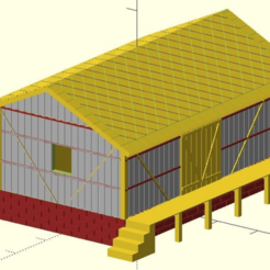 warehouse.png Download SCAD file MiniRailway Warehouse (customizable) • 3D printer object, wsvenny