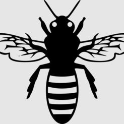 bee.png Download free STL file Bee pictogram • 3D printer design, wsvenny