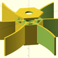 water-wheel.png Download free SCAD file Customizable Toy Water Wheel • Template to 3D print, wsvenny