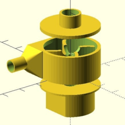 assembly.png Download free SCAD file Customizable Centrifugal Pump • 3D printable design, wsvenny