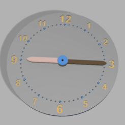 ToyClock.png Download free STL file Clock for kids (learning toy) • 3D printer template, wsvenny