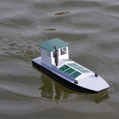 PA190519.JPG Download STL file Mikul - simple small RC boat 1:32 • 3D printing object, wsvenny