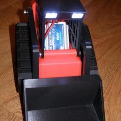 P3165898.JPG Télécharger fichier STL gratuit Remix d'un plus grand Track Loader (avec des phares !) • Objet à imprimer en 3D, wsvenny