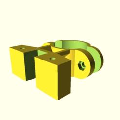 ff9aedcc161de023d36d94dfdc2fb25d.png Télécharger fichier SCAD gratuit Fixation de tube personnalisable pour support de téléphone à vélo • Plan à imprimer en 3D, wsvenny