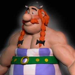 Download 3D printing models Obelix 3D bust, edubaldo