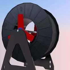 SpoolMount.jpg Télécharger fichier STL gratuit Adaptateur de bobine avec roulements • Modèle pour impression 3D, danielscatigno