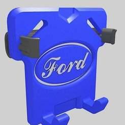 Télécharger fichier STL gratuit Porte-téléphone de voiture Ford • Plan à imprimer en 3D, danielscatigno