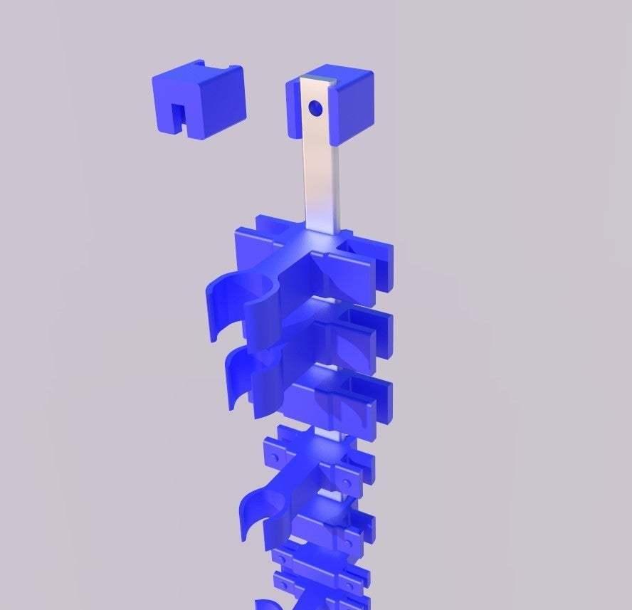 socket_rail.jpg Télécharger fichier STL gratuit Organiseur de prises avec rail, double • Objet pour impression 3D, danielscatigno