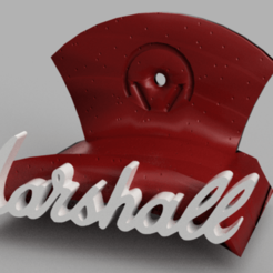 marshall v1.png Download STL file MARSHALL'S STYLE HEADPHONE HOLDER • 3D printable template, Cris94